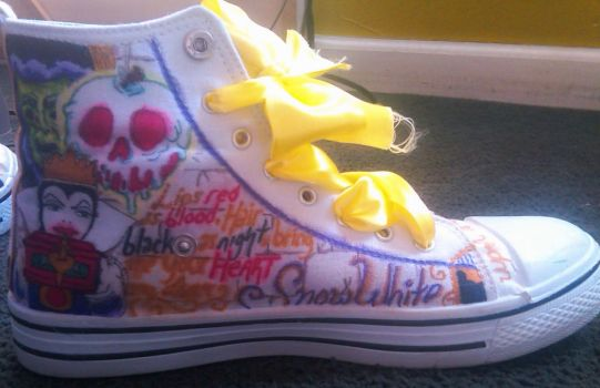 Custom Disney shoes! -left inside- by blackbirdbethie88