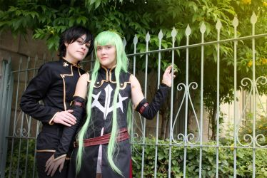C.C. and Lelouch by MelfinaCosplay