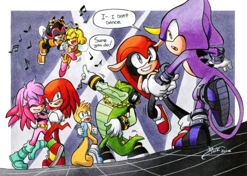 Chaotix dance by FinikArt