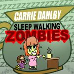 Carrie Dahlby 'Sleep Walking Zombie' Chibi button by artbylukeski