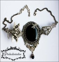 Keyhole dragonfly necklace II by Pinkabsinthe