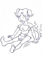 Stinky diaper girl by Pampered-sheep