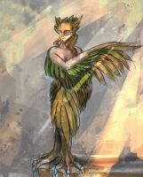 30 monsters challenge - 1 - harpie by bloodrizer