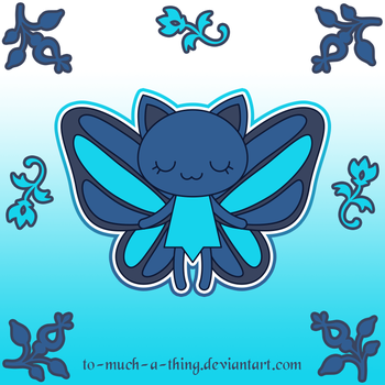 Azure fairy cat by to-much-a-thing