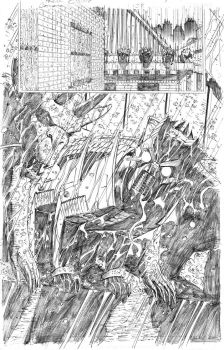 Catwoman 34 page 1 pencils by PatrickOlliffe