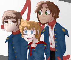 Tord, Paul, and Patryk by arthur-anon