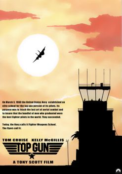 TOP GUN Movie Poster by antacidimages