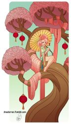 Character Design - Cherry Blossom Tree Lady by MeoMai