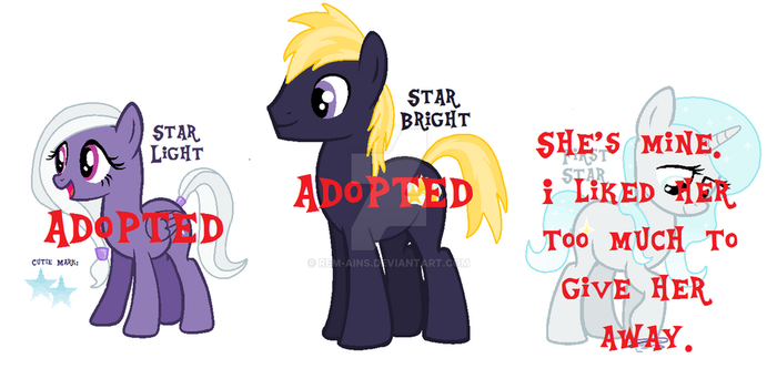 CLOSED: The Star Children Adoption Set! by rem-ains