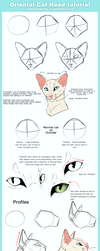 Oriental Cat Head tutorial by ClimbToTheStars