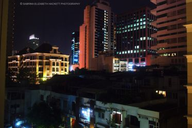 Bangkok Skyline At Night by Hitomii