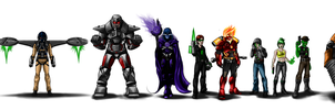 Lego Lineups: Ultra Agents Villains by joshuad17