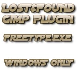 Lost+Found Gimp Freetype by photocomix-resources