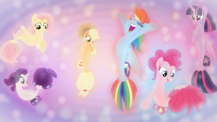 Sea Pony Six Wallpaper by SailorTrekkie92
