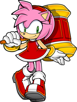 Who Dat - Amy Rose by KetrinDarkDragon