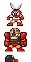 MegaMan 'Sprites'-Bosses of 1 by WaneBlade