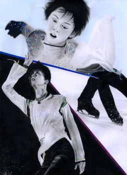 Yuzuru Hanyu pencil drawing by PhotonLights