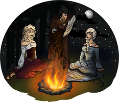 Around the Campfire by LeavingNeverland