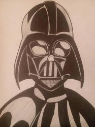 Darth Vader inked  by christheZfighter