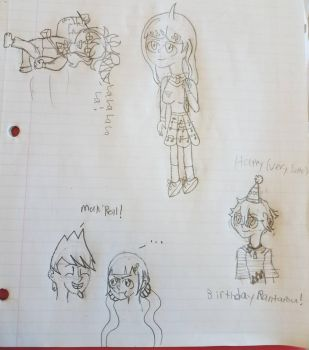 danganronpa sketches  by Totaldramafan102