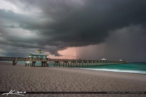 Lightning-Over-the-Juno-Beach-Pier-Last-Storm by CaptainKimo