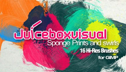 GIMP Sponge Prints and Swirls by Graphicclouds