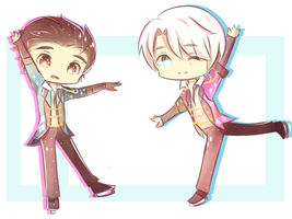 Yuri on Ice Chibis by karieko