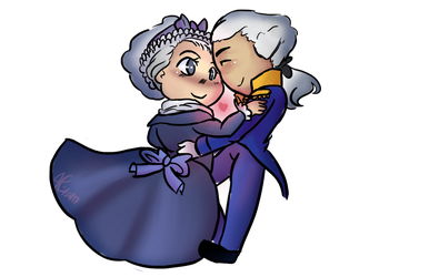 George and Martha Washington by AllisonMichelleCoon