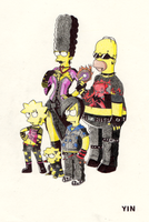 Punk Simpsons by JessicaYin