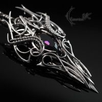 MYTHNARG - Silver and Purple Zirconia by LUNARIEEN