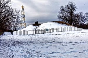 Indian Mounds in Winter by sequential