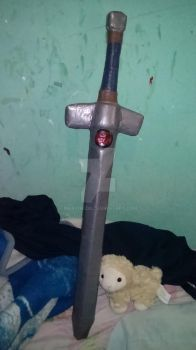 Comissioned Thundercats lookalike softcombat sword by MaryDKidd