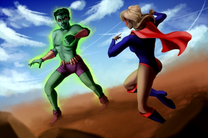Mighty Mom vs Metronite Man by JGalley0