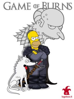 Simpsons vs Game of Thrones: Homer Simpson by logolocoadv