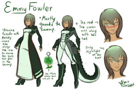 Mystery of Melody characters: Emmy Fowler by Israel42