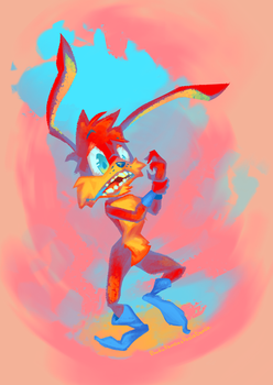 Spaz Jackrabbit (Jazz Jackrabbit 2) by BuduFamousPosleDeath