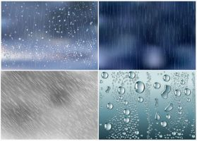Water Drops Background Texture by vectorbackgrounds