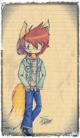 Leo The Fox Hipster by 8AishaTheFenec8