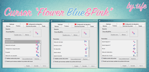 Cursor Flower Blue y Pink by isfe by Isfe