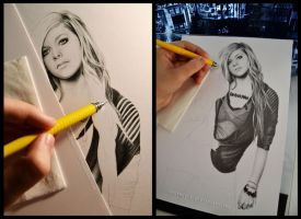 Avril Lavigne WIP by Sorbetti