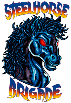 Commish: STEEL HORSE Logo by VAXION