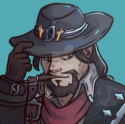 Van Helsing Mccree by Mozg-ART