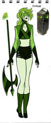 Gemsona: Diopside by CarpalTunnelLuv