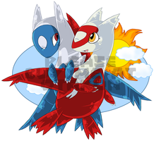 Latios and Latios - flight
