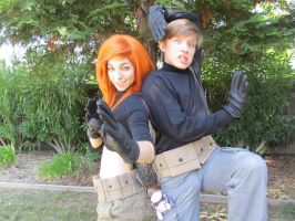 Kim Possible and Ron Stoppable by demonexile0708