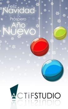 ActifStudio Crhistmas card by U-fo