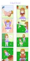 A day at the pool 4koma 2/3 by Strawb-Ellie