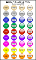 Orby Colors Dock PNGs by MrEyePatch