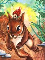 ACEO: Forest Romp by DanielleMWilliams