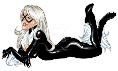 Commission: Black Cat by sheastandefer